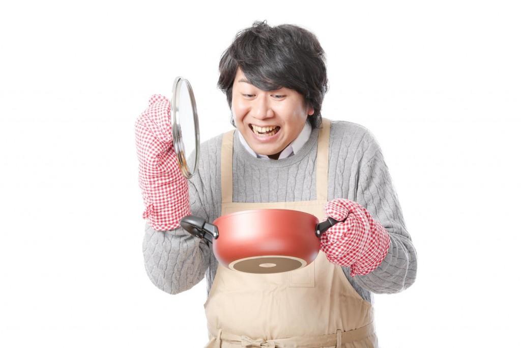 男性・笑顔・料理