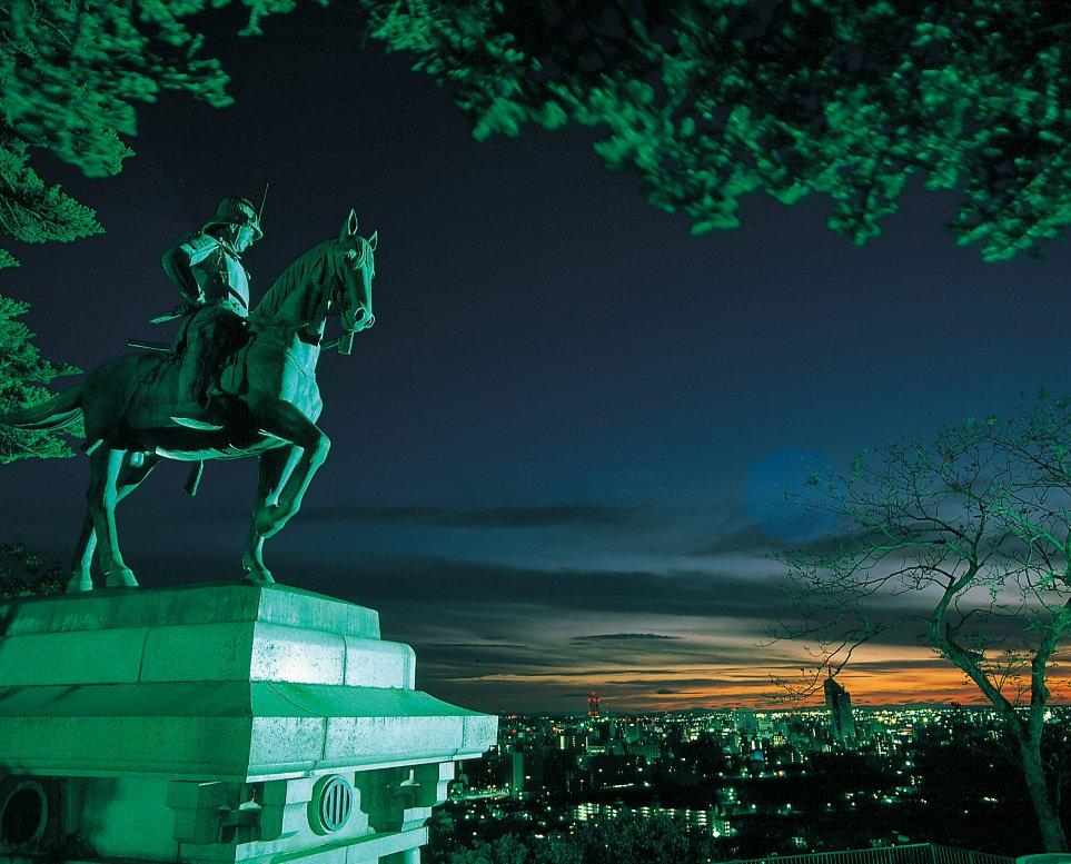 仙台青葉城の伊達政宗像